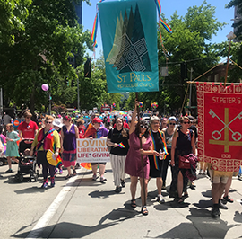 Churches Across the Diocese Participate in the Seattle Pride Parade
